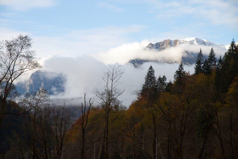 Vue aux montagnes de Bucegi, Roumanie image libre de droits