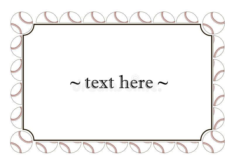 Vue avec des boules de base-ball image libre de droits