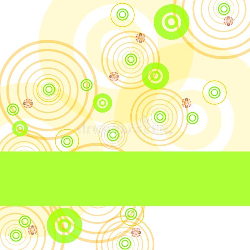Vue avec des cercles de couleur illustration libre de droits