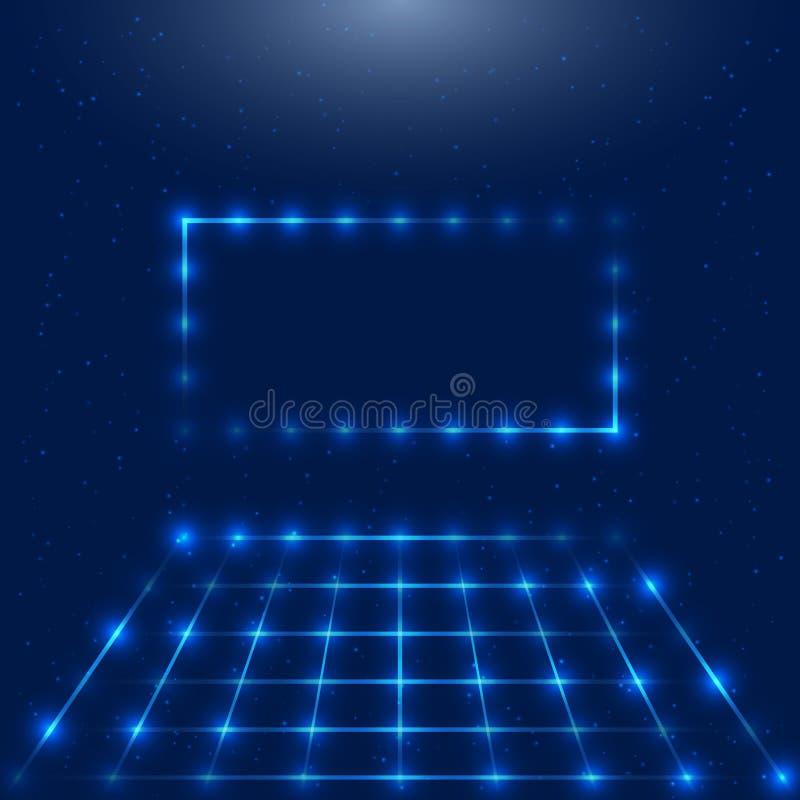 Vue avec des lumières de LED images stock