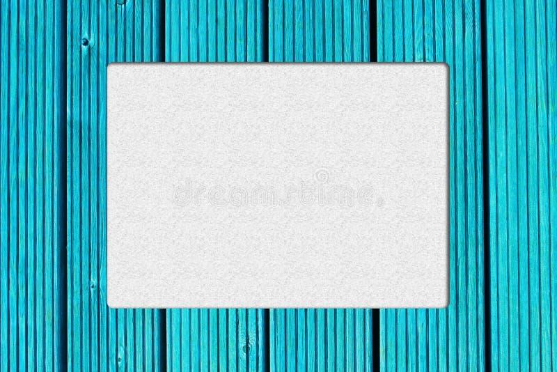 Vue avec le fond en bois de turquoise Rétro conception de cadre Couleur fraîche et fraîche photo stock