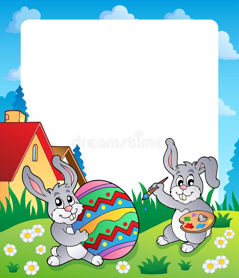 Vue avec le sujet 6 de lapin de Pâques illustration libre de droits