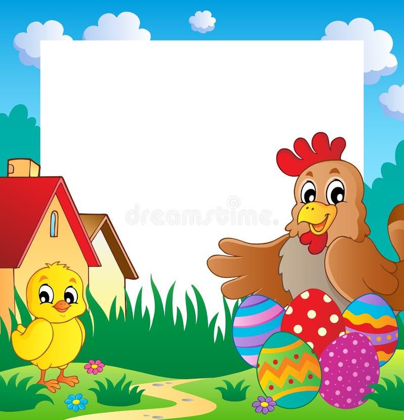 Vue avec le thème 2 de Pâques illustration de vecteur