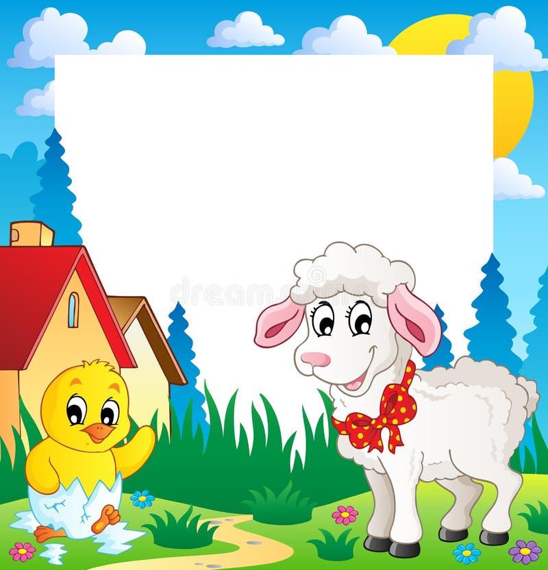 Vue avec le thème 4 de Pâques illustration libre de droits