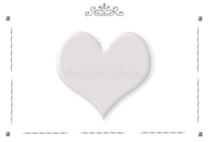 Vue avec les ornements et un grand coeur gris photos libres de droits