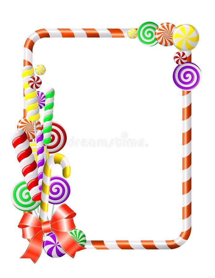Vue avec les sucreries colorées. illustration de vecteur