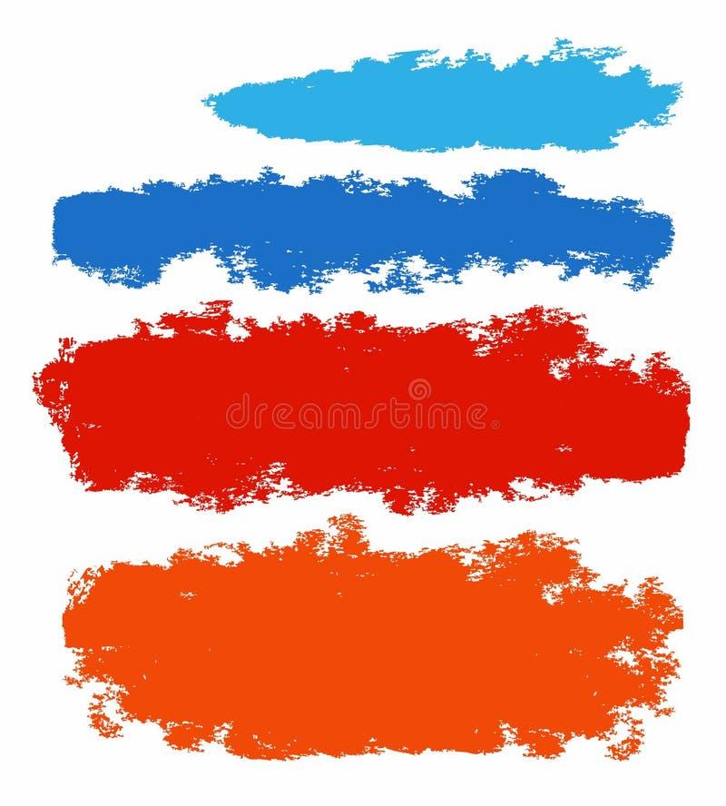 Vue, bannière, bords en lambeaux, colorés, appartement, nuage, tache illustration libre de droits