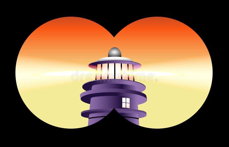 Vue binoche de phare illustration libre de droits