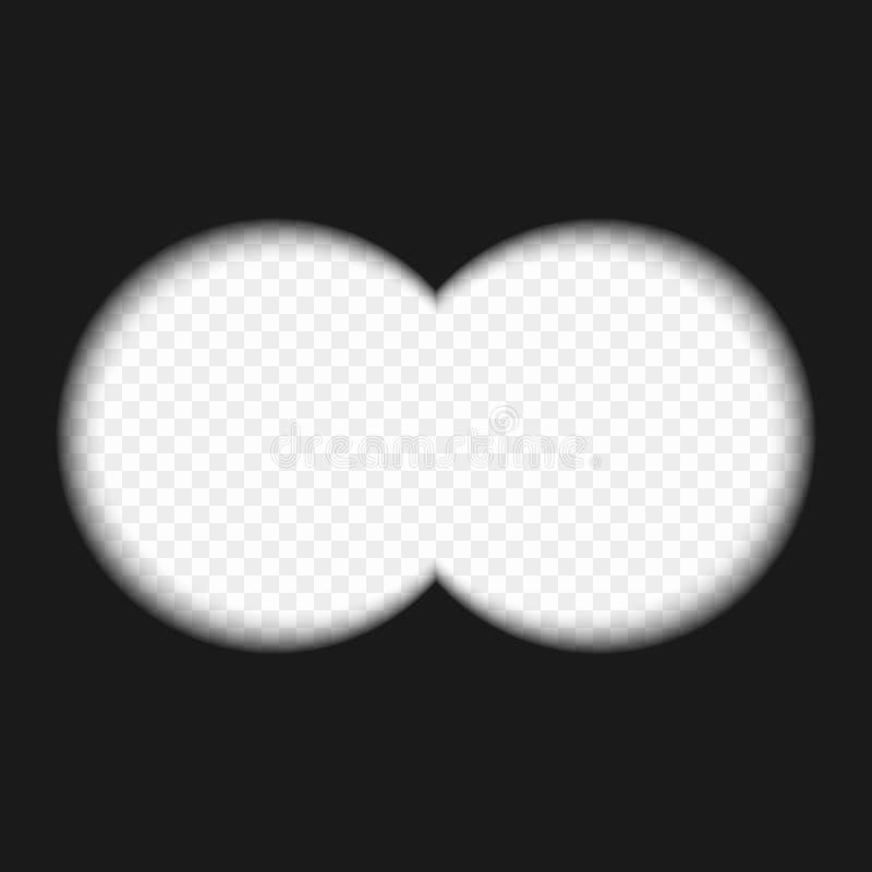 vue binoculaire illustration libre de droits