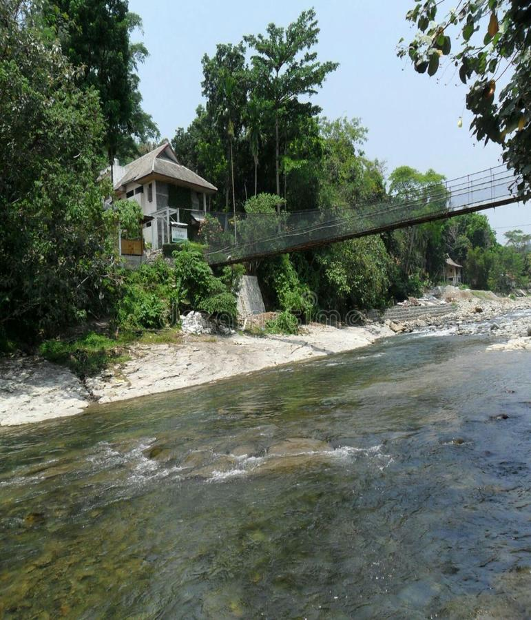 Vue blanche du nord de maison de Bahorok Sumatera photo libre de droits