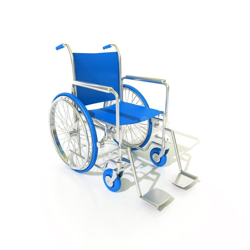 Vue bleue de partie latérale de fauteuil roulant illustration stock