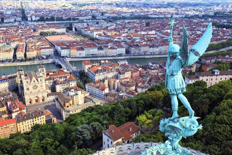 Vue célèbre de Lyon photos libres de droits