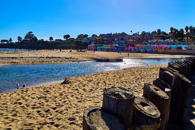 Vue côtière de Capitola de la plage photographie stock libre de droits