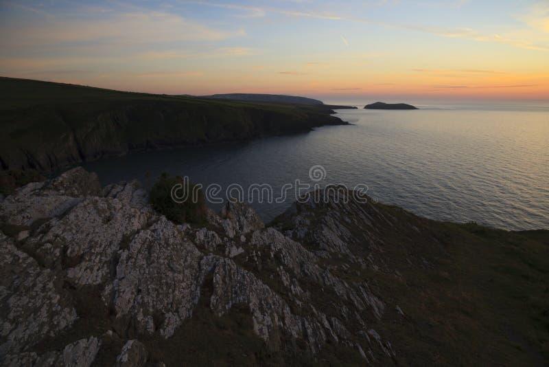 Vue côtière d'île de cardigan images stock