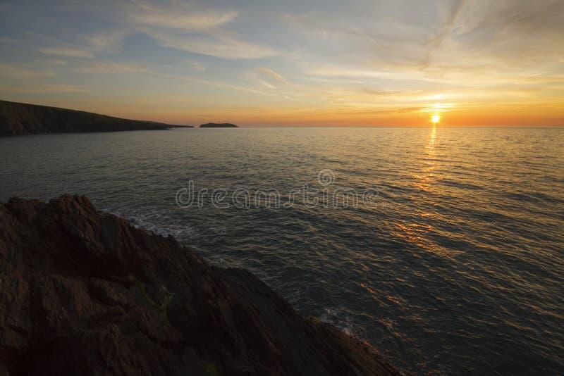 Vue côtière d'île de cardigan photos stock
