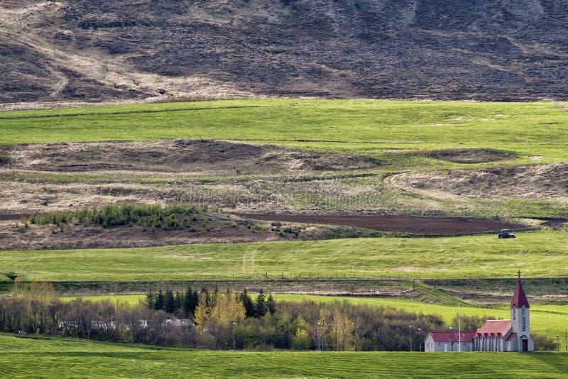 Vue côtière d'Akureyri Islande image stock