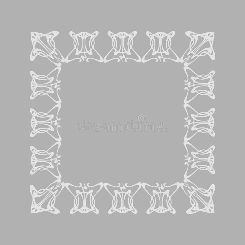 Vue carrée avec le style d'Art Nouveau d'abrégé sur vecteur illustration de vecteur
