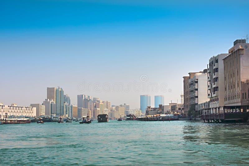 Vue chez Dubai Creek, Dubaï, Emirats Arabes Unis photographie stock