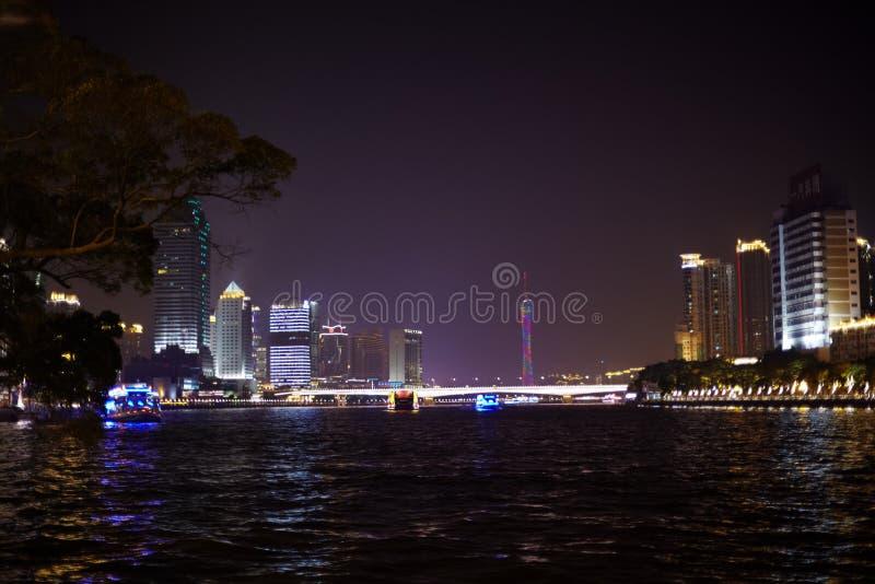 Vue chez Guangzhou de Pearl River photo stock