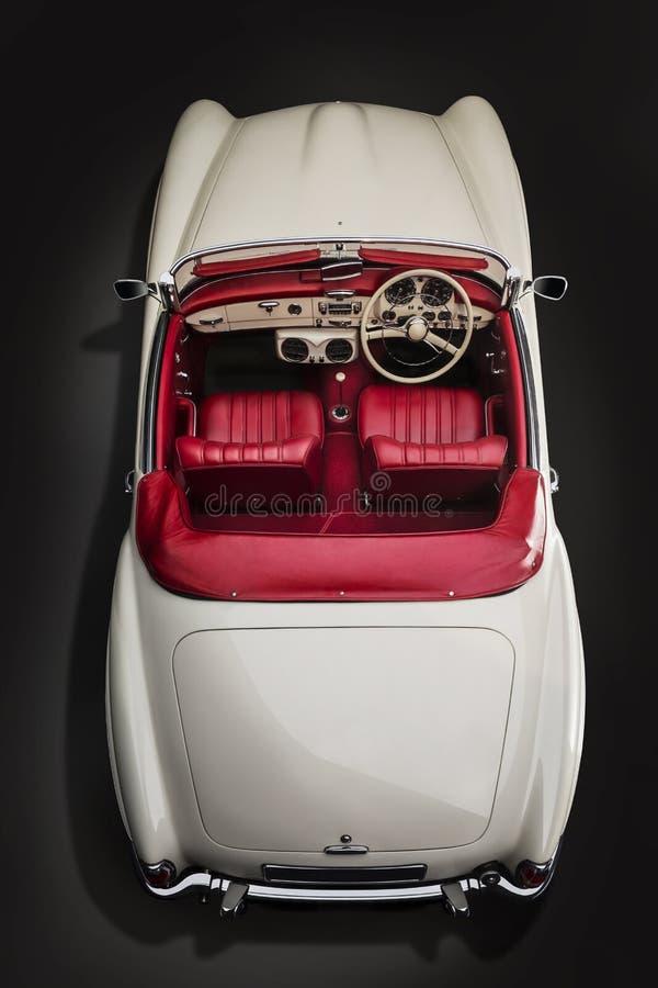 Vue classique de Mercedes Benz 190sl-Top de voiture photographie stock libre de droits