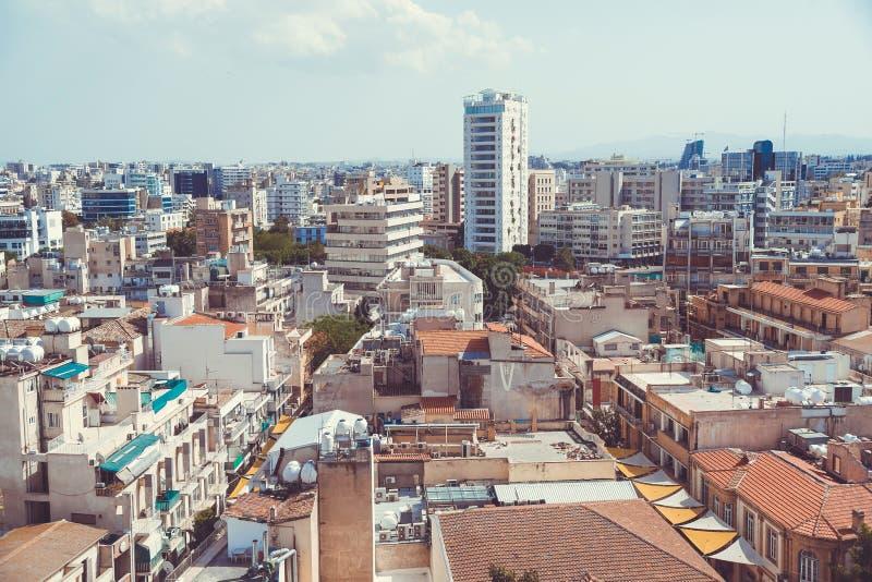 Vue courbe à la ville de Nicosia cyprus photos libres de droits