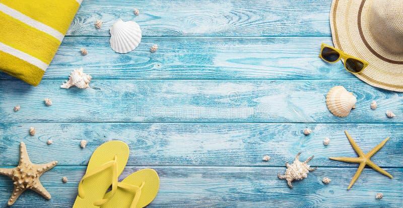 Vue courbe d'été, accessoires de plage photo libre de droits