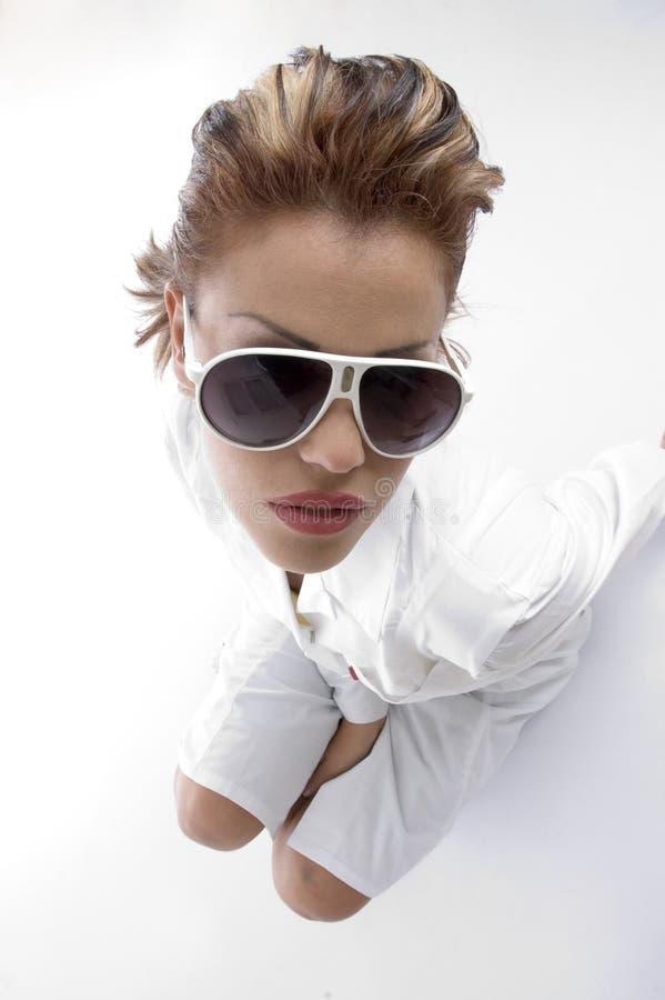 Vue courbe de docteur avec eyewear images stock