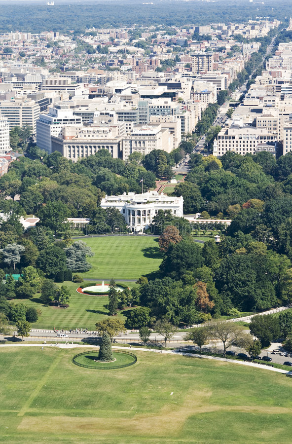 Vue courbe sur DC de Washington photos stock