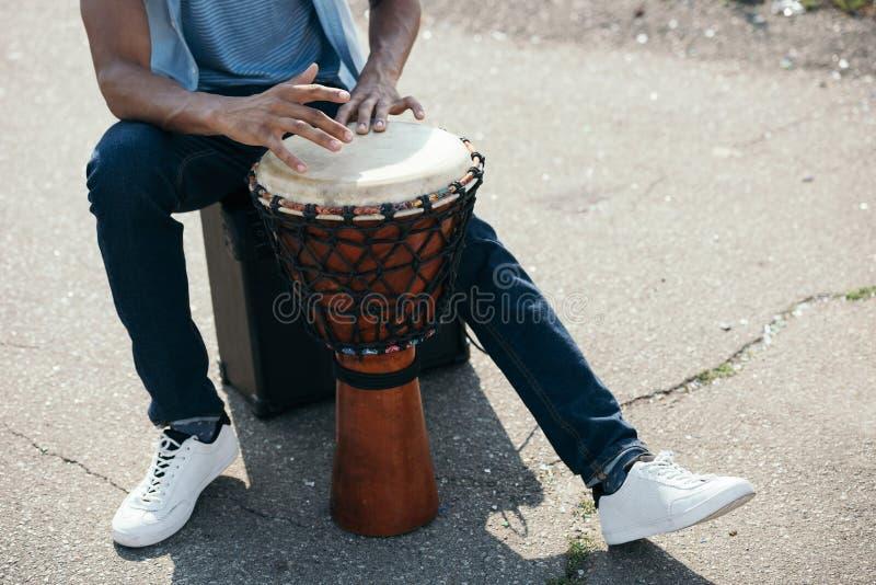 vue cultivée d'homme d'afro-américain photo libre de droits
