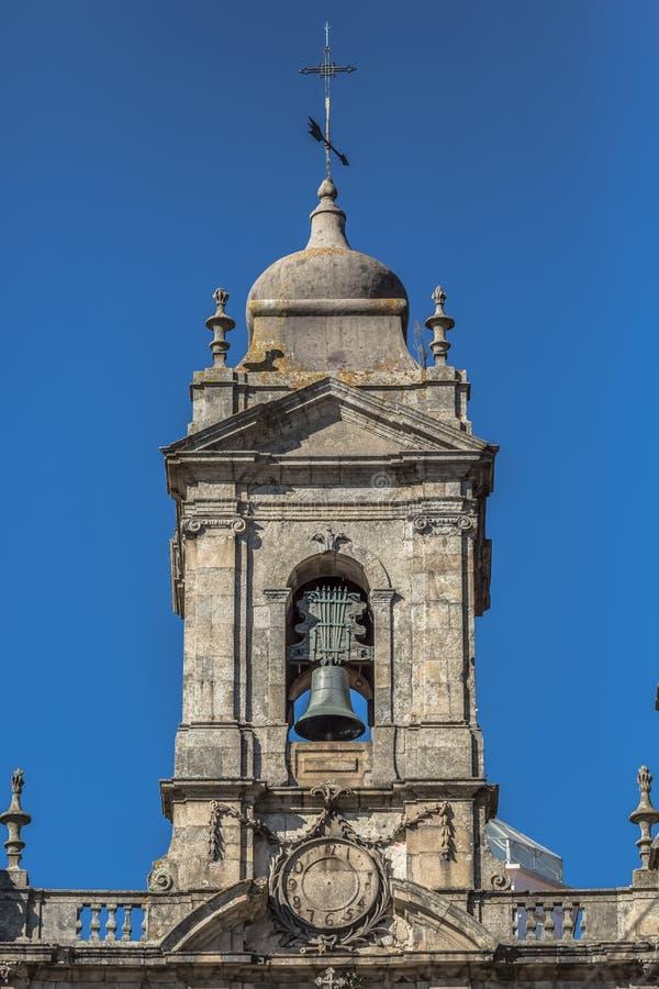 Vue décorative d'élément de tour à l'église de troisième ordre de San Francisco sur Porto photos stock