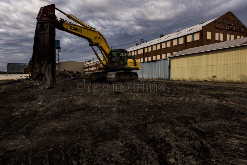 Vue déprimée de fonderie abandonnée - Columbus, Ohio photo libre de droits