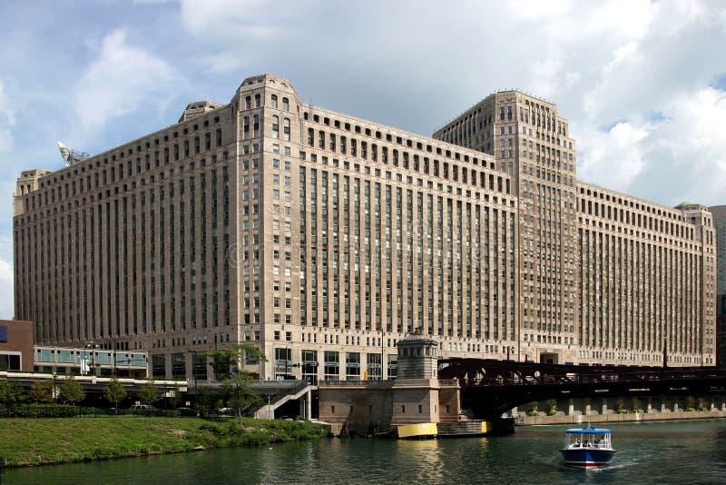 Vue d'â de Chicago de bateau de rivière image stock