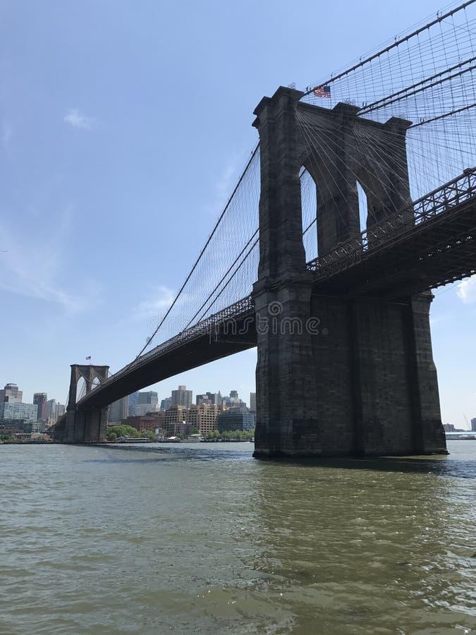 Vue d'été de pont de Brooklyn de Manhattan photographie stock libre de droits