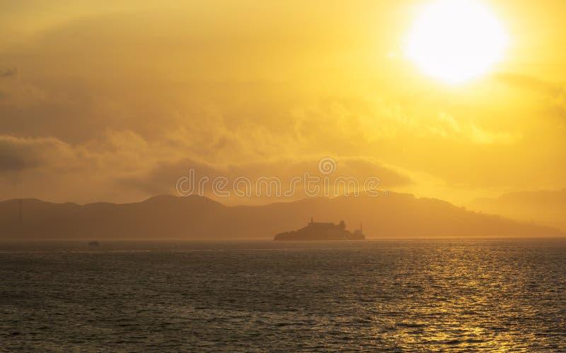 Vue d'île d'Alcatraz d'île de trésor photographie stock