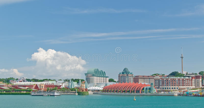 Vue d'île de Sentosa, Singapour images stock
