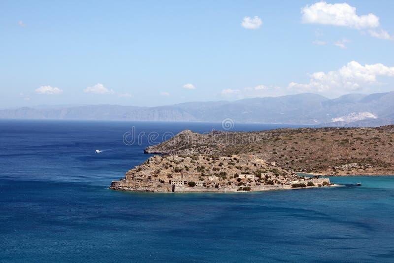 Vue d'île de Spinalonga, Crète, Grèce. images stock