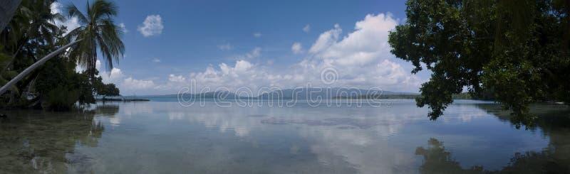 Vue d'îles Salomon image libre de droits