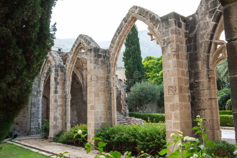 Vue d'abbaye de Bellapais image libre de droits