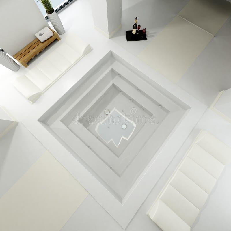 Vue d'Aereal de salle de bains de luxe illustration de vecteur