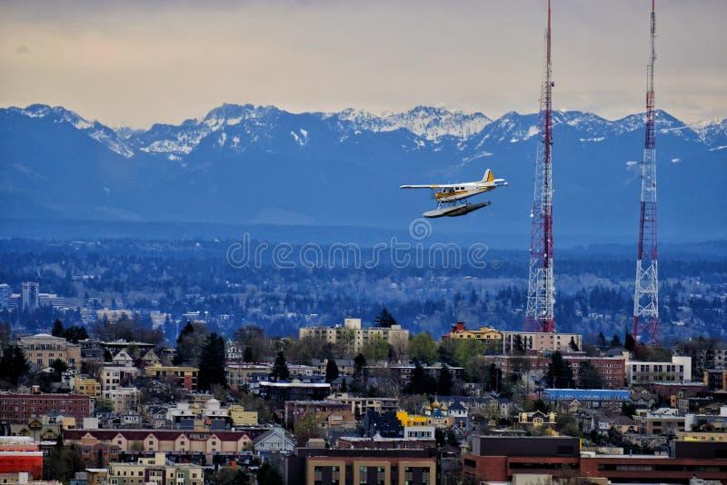 Vue d'aiguille de l'espace de Seattle photo libre de droits