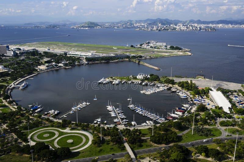 Vue d'air de Rio de Janeiro image stock