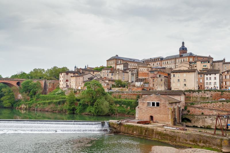 Vue d'Albi, France photo libre de droits