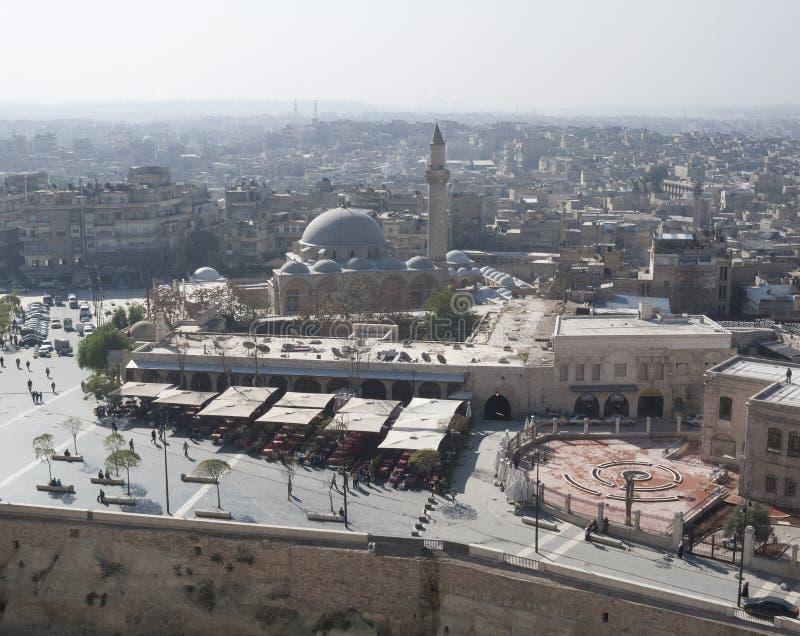 Vue d'Alep Syrie photographie stock libre de droits