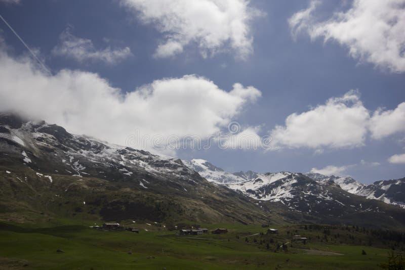 Vue d'Alp Flix photos stock