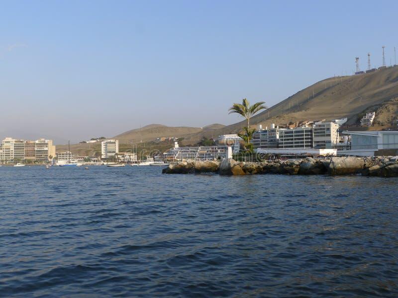 Vue d'Ancon de la mer photo libre de droits