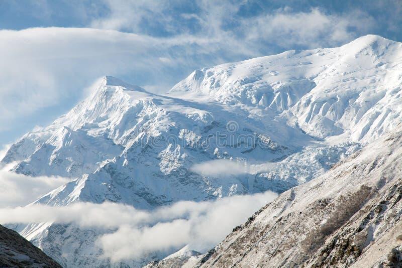 Vue d'Annapurna 3 III, chaîne d'Annapurna images stock