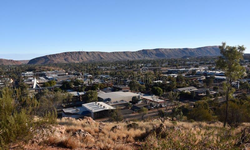 Vue d'ANZAC Hill en Alice Springs images stock