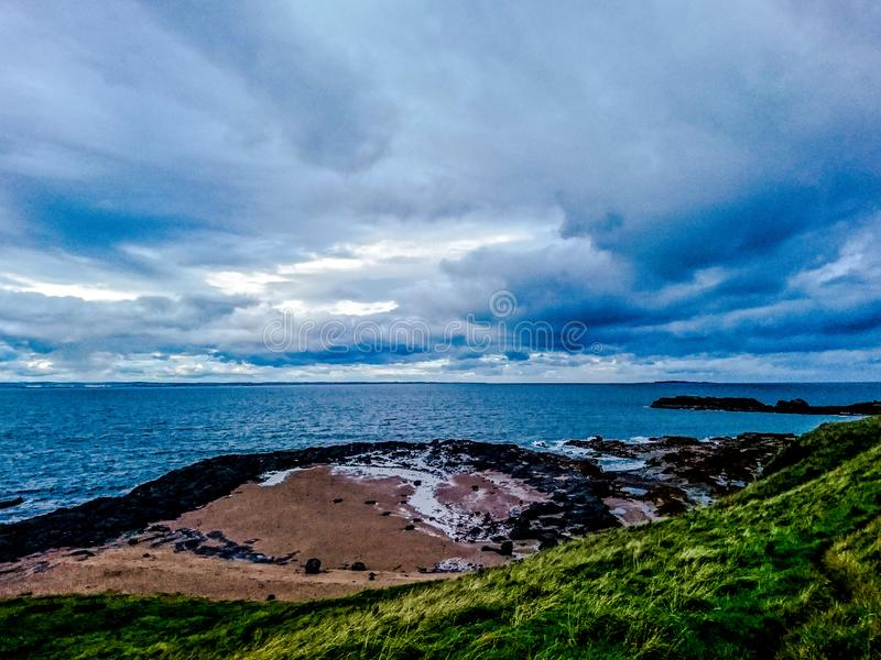 Vue d'après-midi du berwick du nord image libre de droits