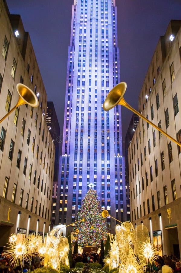 Vue d'arbre de Noël photographie stock libre de droits