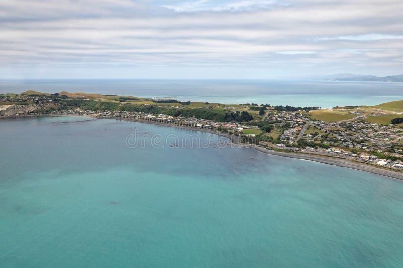 Vue d'Arial de Kaikoura, Nouvelle-Zélande image libre de droits